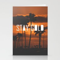 stay gold Stationery Cards featuring Stay Gold by Trash Apparel