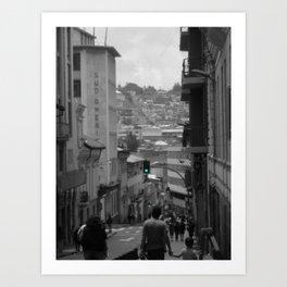 A Walk Through Quito Art Print