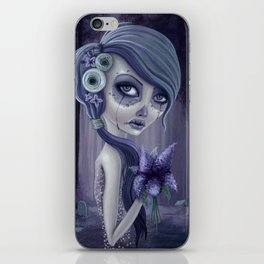 Lilacs in the forest iPhone Skin