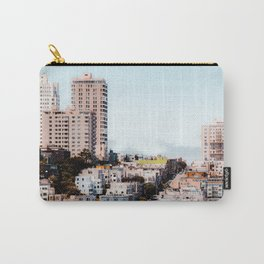 building with blue sky at San Francisco California USA Carry-All Pouch