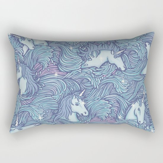 and so it ends - purple version Rectangular Pillow