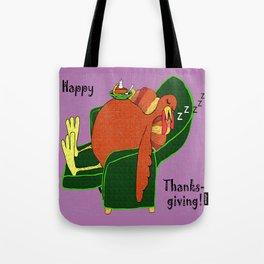 Sleeping Turkey with Pumpkin Pie Tote Bag