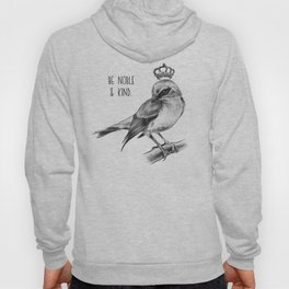 Bird and Quote by Magda Opoka | Animals | Painting | Illustration Hoody