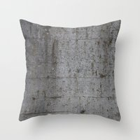 concrete Throw Pillows featuring Concrete by Jeanette Nilssen