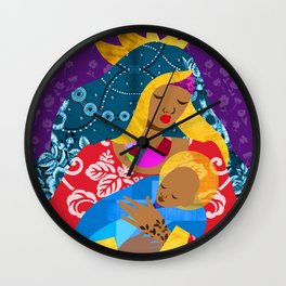 Virgin Mary and Child Wall Clock