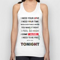 ellie goulding Tank Tops featuring I Need Your Love ; Ellie Goulding feat. Calvin Harris by Wis Marvin