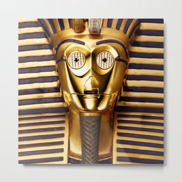 C3PO - Star Pharaon Metal Print
