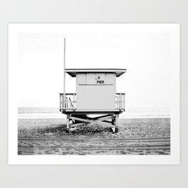 Beach Photography black and white print Art Print