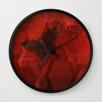 sandman Wall Clocks featuring Welcome the Sandman by Scott Mitchell Photography
