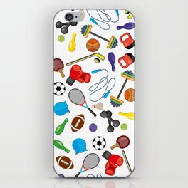 Children's Sport Pattern iPhone Skin