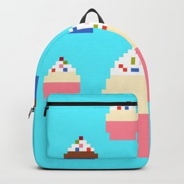 Pixel Cupcakes (Blue) Backpack