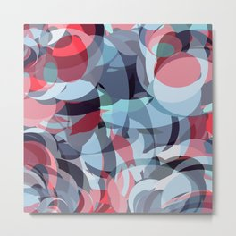 circle fractures blue red Metal Print