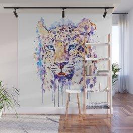Watercolor Leopard Head Wall Mural