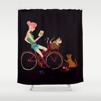 letters Shower Curtains featuring Love Letters by KattyB