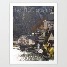 hallstat, austria Art Print