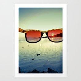 Views of Sunset Art Print
