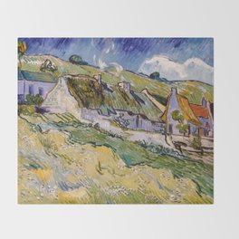 "Vincent van Gogh ""Cottages"" Throw Blanket"