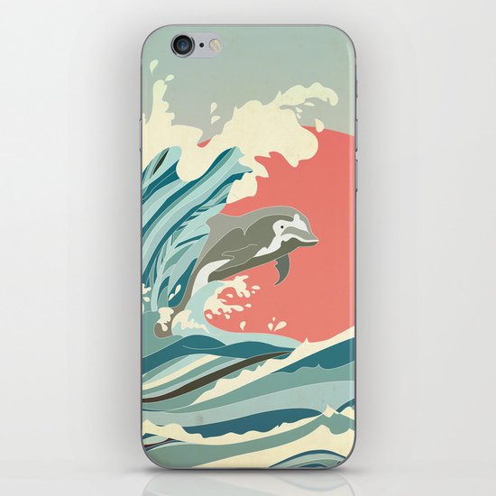 dolphin happiness iPhone & iPod Skin