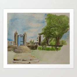 a gate to the sky Art Print