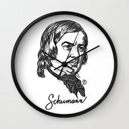 Robert Schumann composer portrait Wall Clock