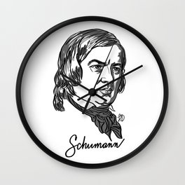 Robert Schumann composer portrait Wall Clock