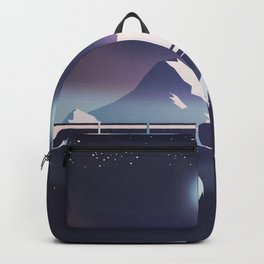 Locomotive at night Backpack