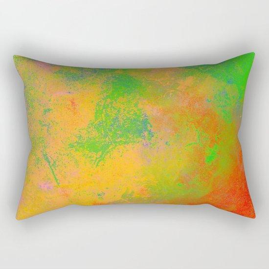 Taste The Rainbow - Multi coloured, abstract, textured painting Rectangular Pillow