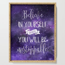 Believe In Yourself Motivational Quote Serving Tray