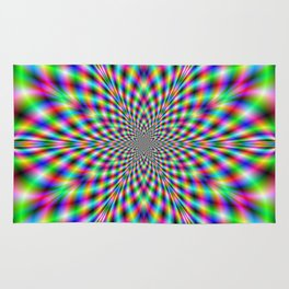 Neon Psychedelic Rug