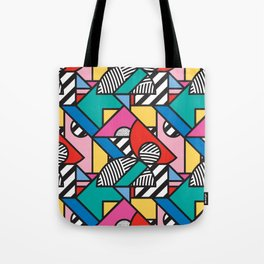 Colorful Memphis Modern Geometric Shapes Tote Bag
