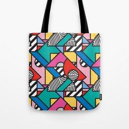 Colorful Memphis Modern Geometric Shapes - Tribal Kente African Aztec Tote Bag