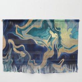 DRAMAQUEEN - GOLD INDIGO MARBLE Wall Hanging