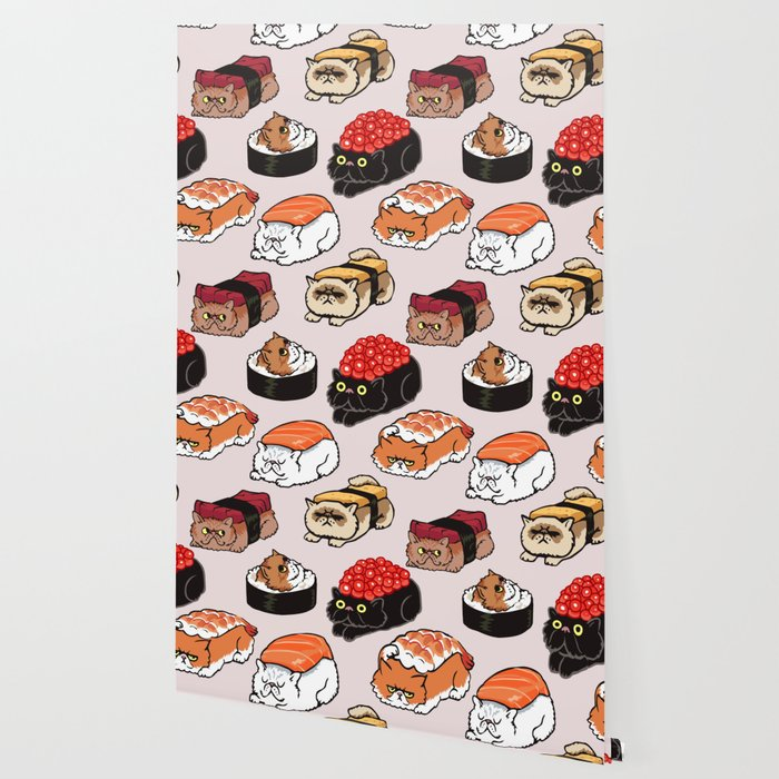 Sushi Persian Cat Wallpaper