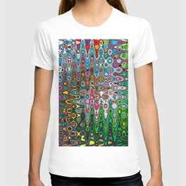 Vibrant Hippie Wiggly Pattern T-shirt