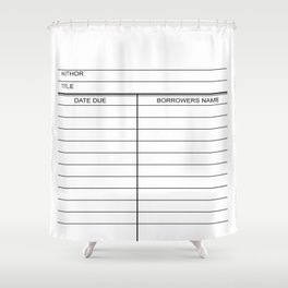 Library Due Date Card Shower Curtain