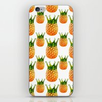 pinapple iPhone & iPod Skins featuring kingapple by sustici