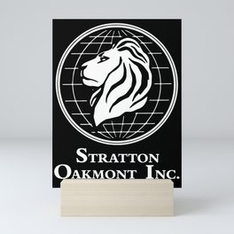 Stratton Oakmont Inc Logo From The Wolf Artwork Of Symbol For Tshirts Prints Posters Bags Men Women Mini Art Print
