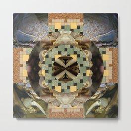 Isopod Mandala for Moebius Metal Print