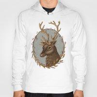 reindeer Hoodies featuring Reindeer by Sarah DC
