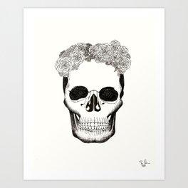 Calavera en Recuerdo Art Print