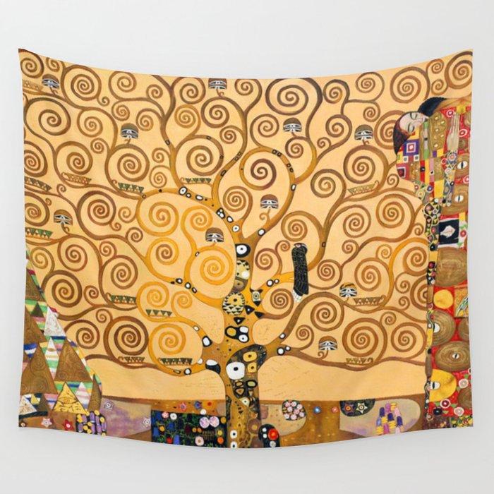 Gustav Klimt Tree Of Life Wall Tapestry By Historystuff