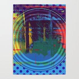 Color Chrome - polka dot graphic Poster