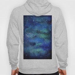 Galaxy Space Sky Watercolor Cosmic Art Hoody