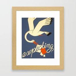 Expecting? Framed Art Print