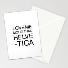More than Helvetica Stationery Cards
