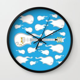 The Emoji-fication of His Purple Majesty: Cloud Guitar Wall Clock