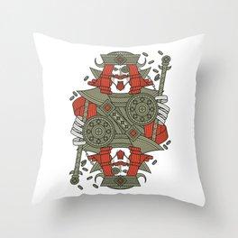 SINS Mentis - Greed King of Diamonds Throw Pillow