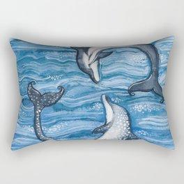 Dolphin Play Rectangular Pillow