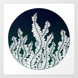 Aqua Nocturnae In Color Art Print
