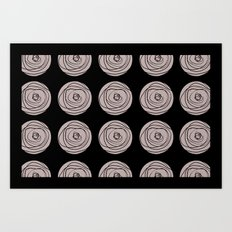 Swirly Dot Pattern Art Print